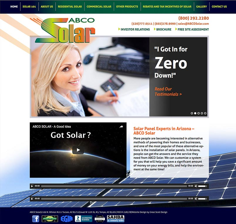 ABCO Solar Website