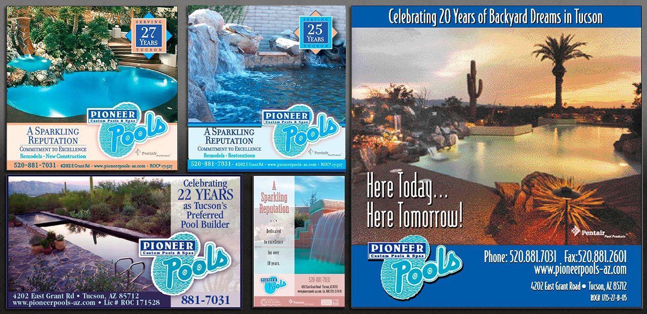 Pioneer Pools Ads