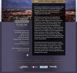 Sunday Evening Forum