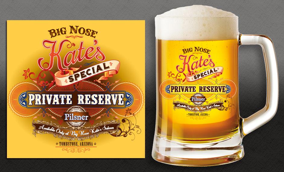 Big Nose Kate's Beer Label
