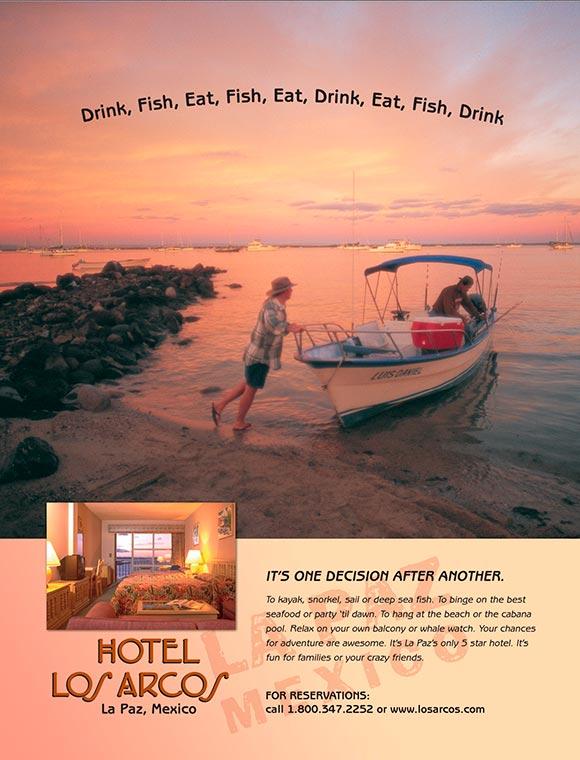 Hotel los Arcos Magazine Ad
