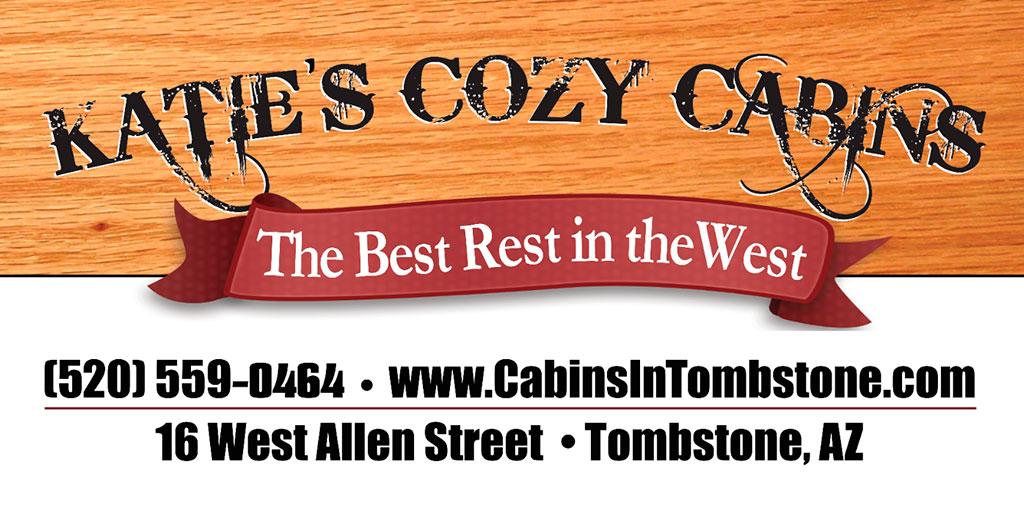 Katie's Cozy Cabins Signage