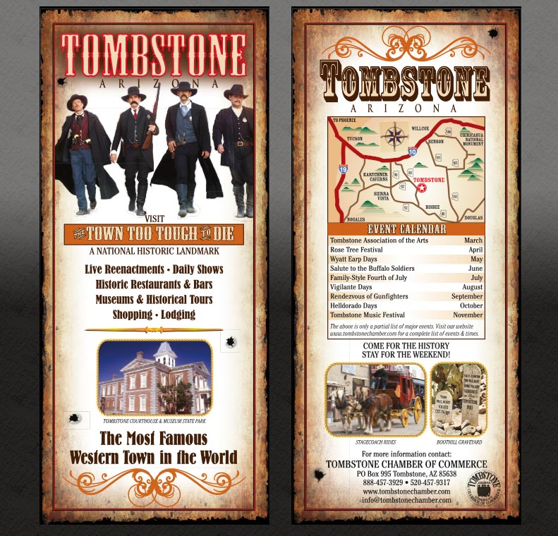 Tombstone Chamber of Commerce Rack Card