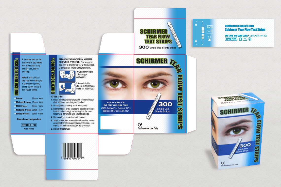 Shirmer Tear Flow Test Strips