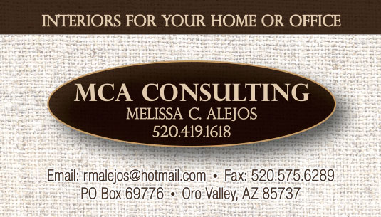 MCA Consulting Business Card