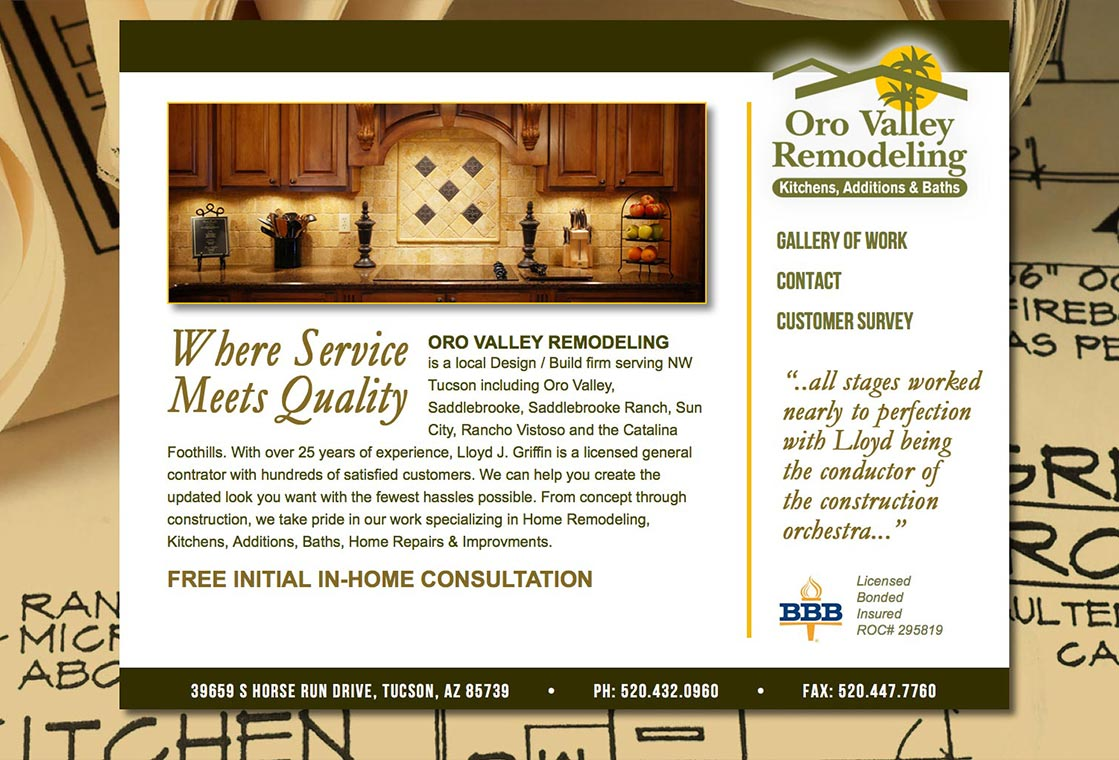 Oro Valley Remodeling Website