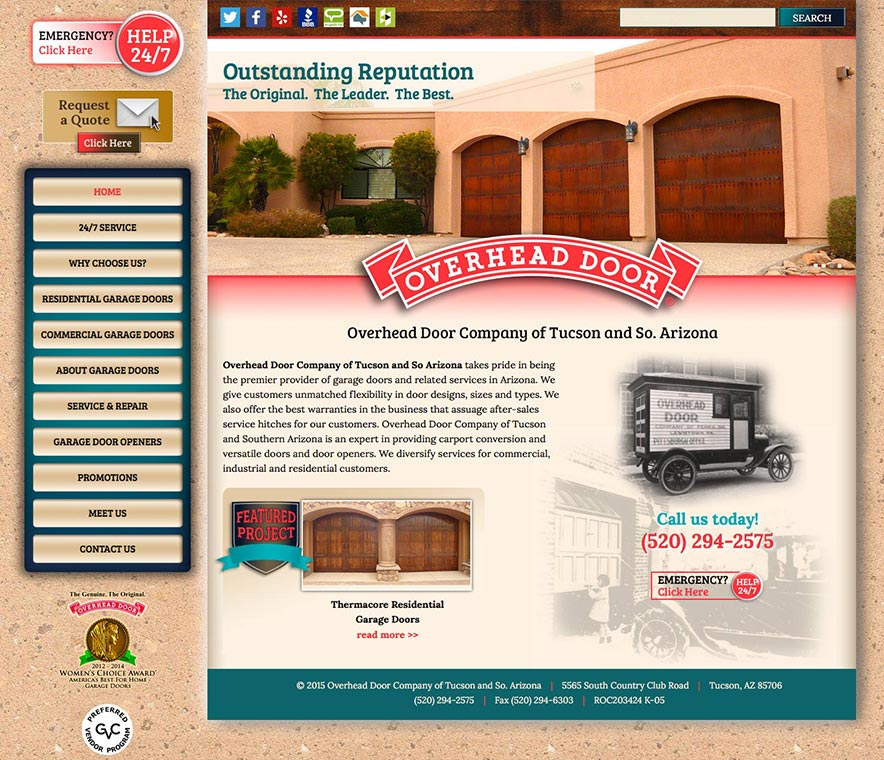 Overhead Door Website