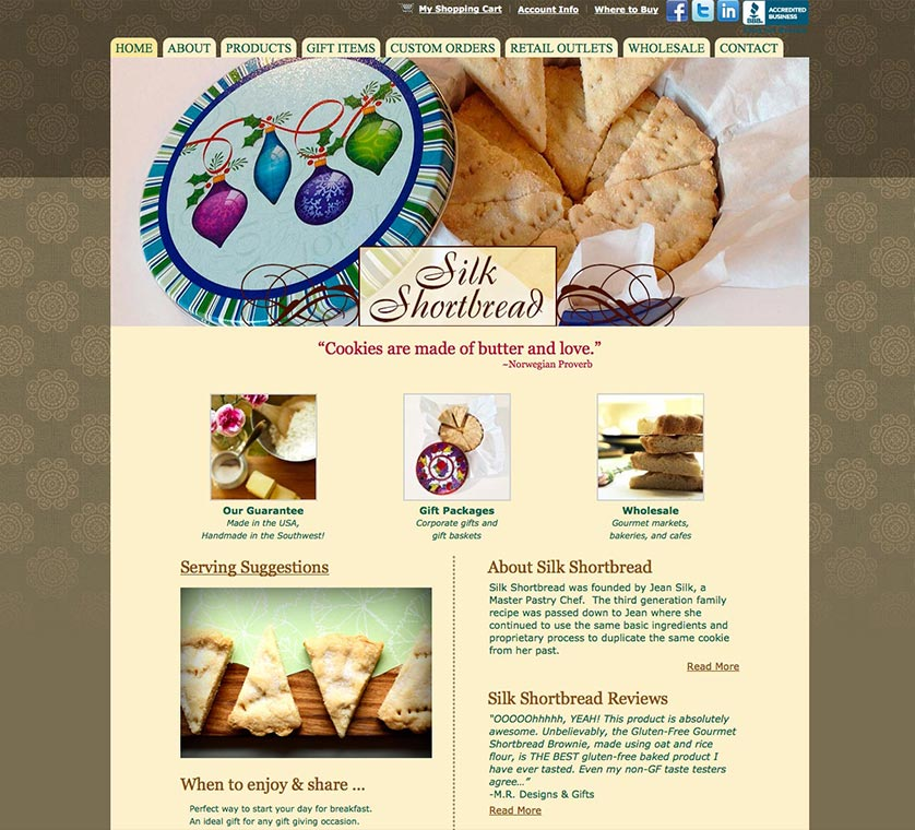 Silk Shortbread Website