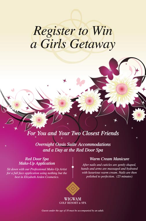 Girls Getaway Flyer
